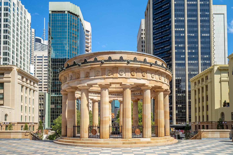 Anzac Square Memorial in Brisbane, Australia