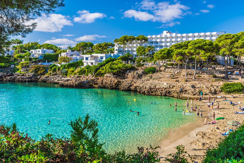 Cala Esmeralda beach, Cala d'Or city, Palma Mallorca, Spain