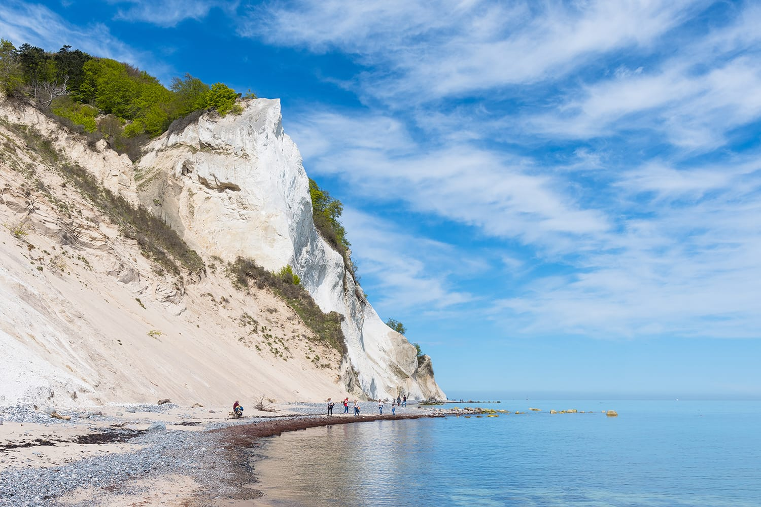 Cliffs of Mons Klint in Denmark