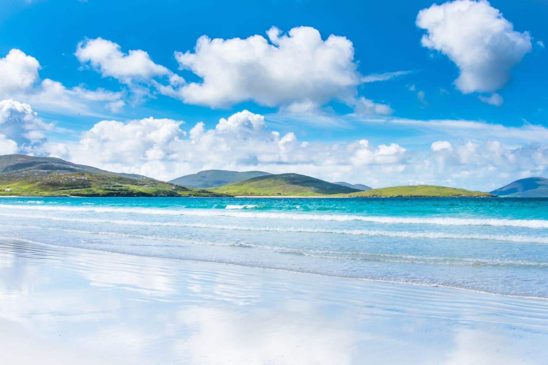 Beach on Isle of Harris in Scotland, UK