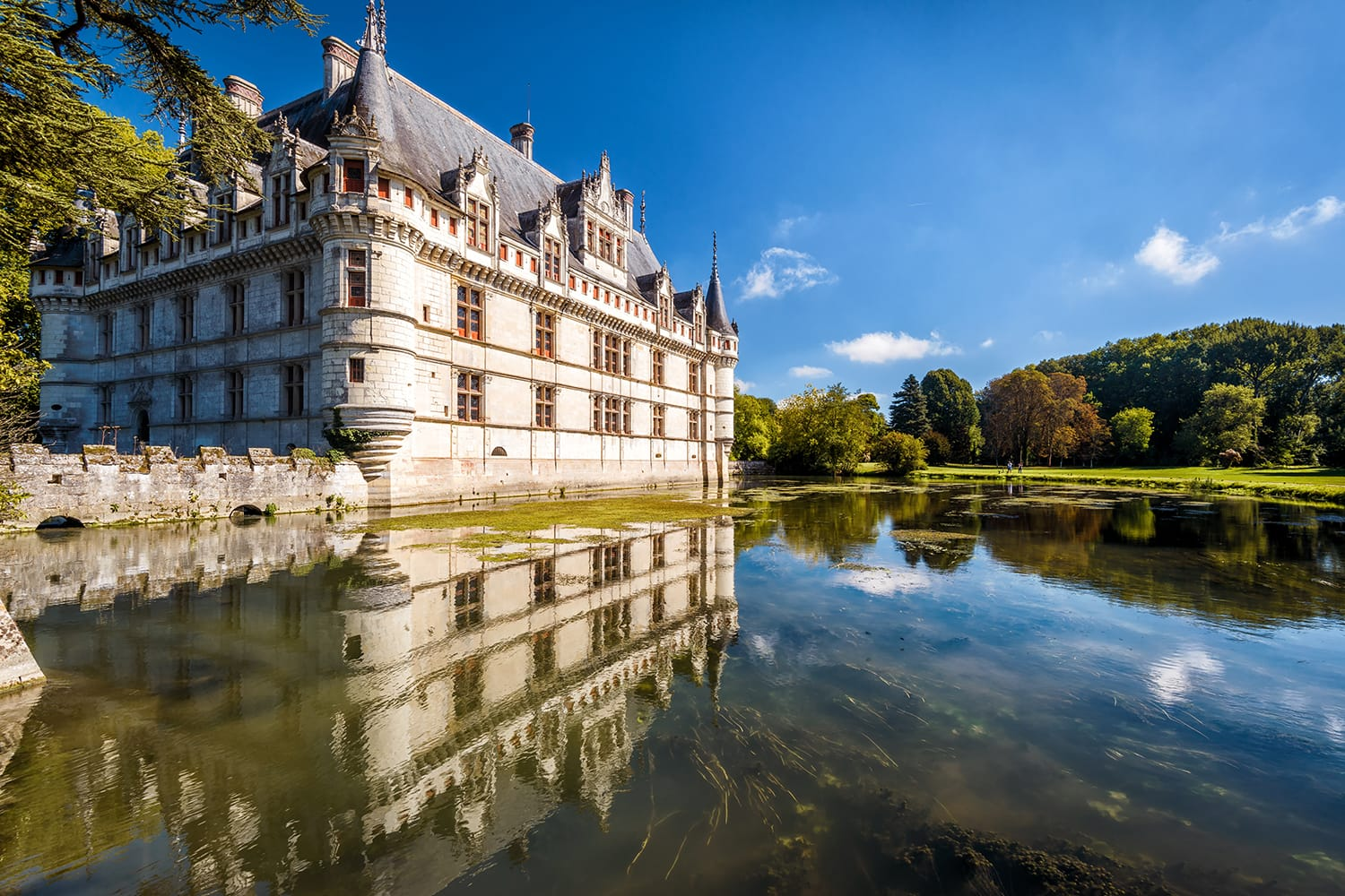 Chateau de Azay-le-Rideau in Loire Valley, France