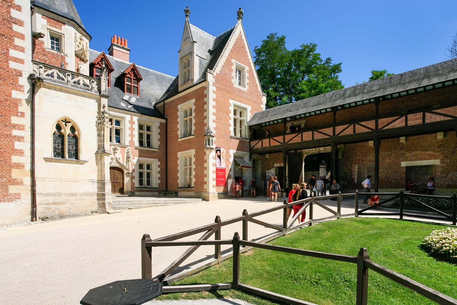 Chateau du Clos Luce in the Loire Valley, france