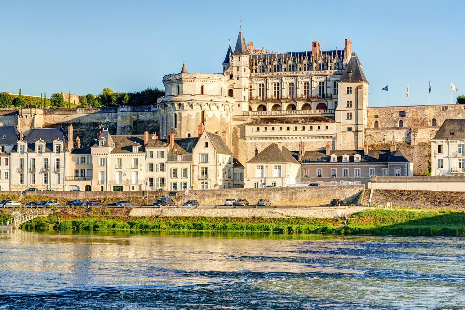 Chateau d`Amboise in the Loire Valley, France