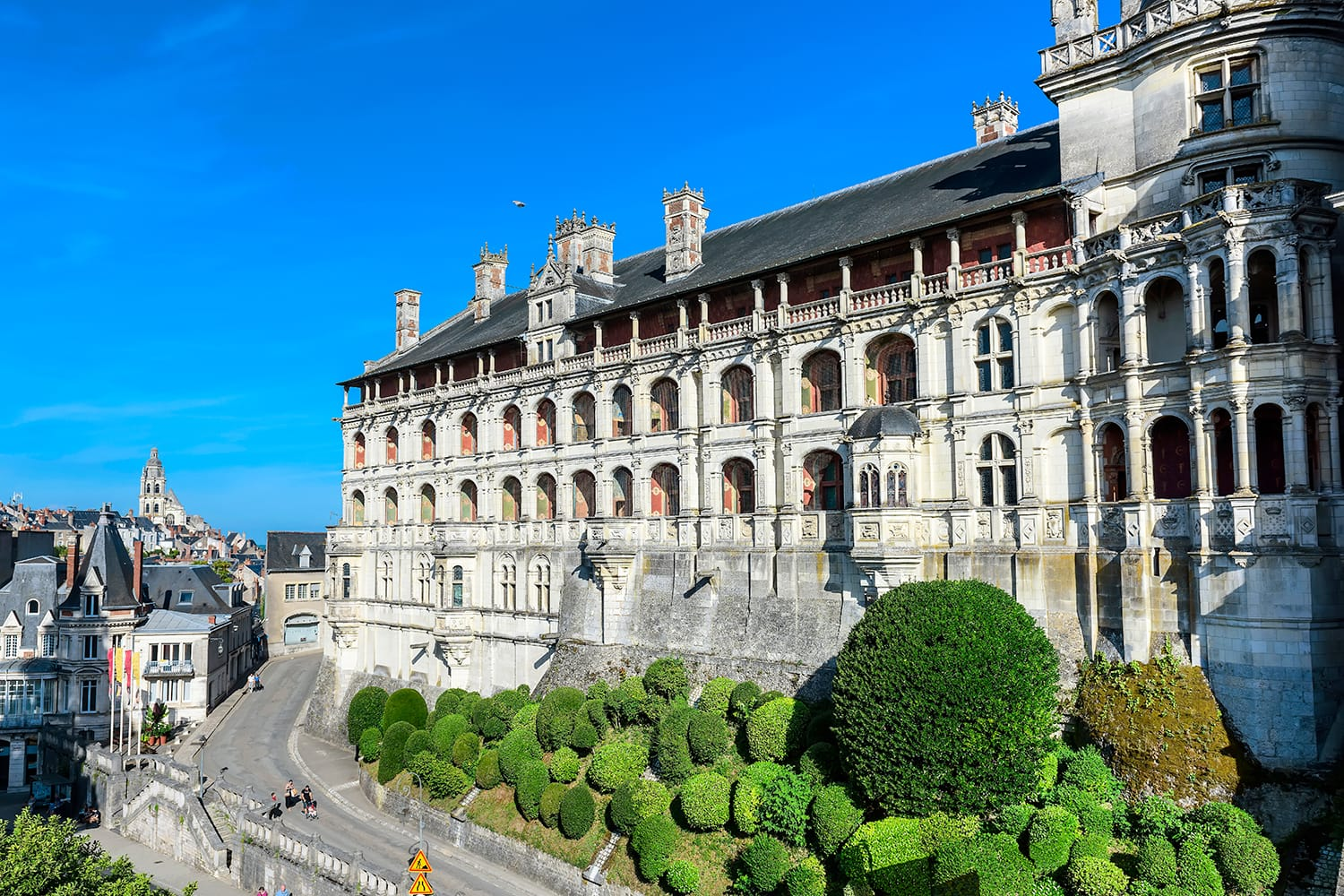 The Royal Palace of Castle of Blois (Chateau de Blois). Included in the top ten castles of the Loire Valley, France,