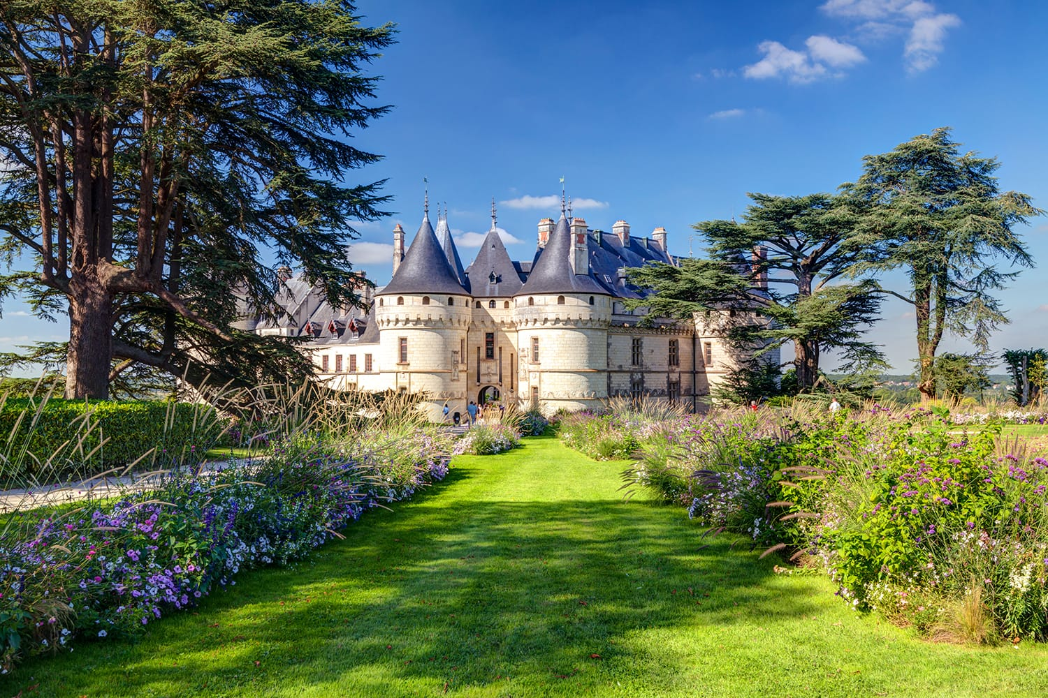 Panorama of Chateau de Chaumont-sur-Loire in summer, Loire Valley, France
