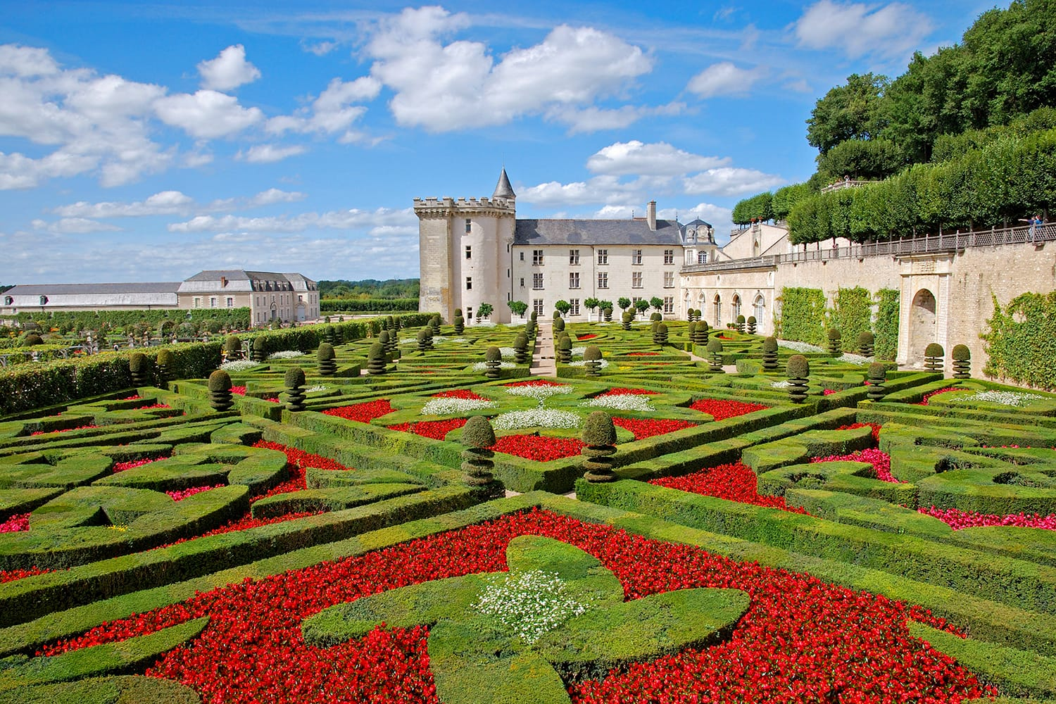 Chateau de Villandry in the Loire Valley, France