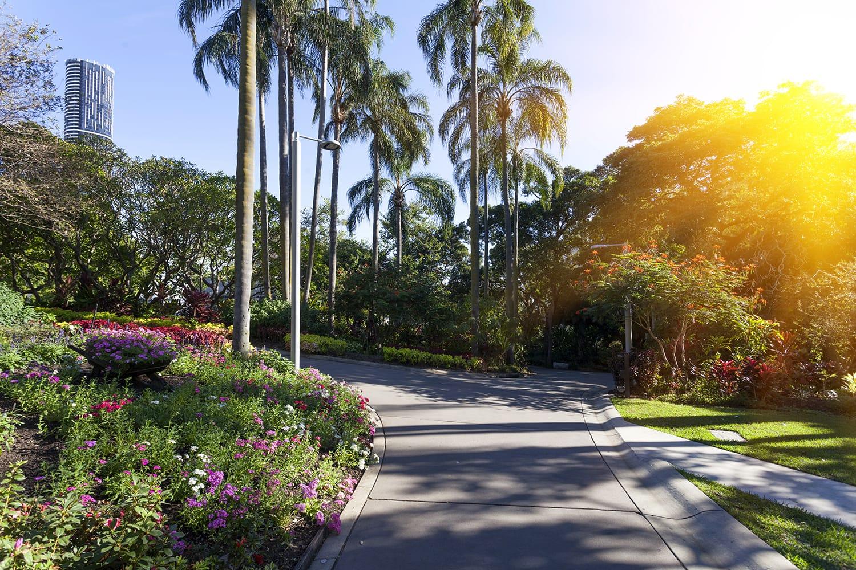 City Botanic Gardens in Brisbane, Australia