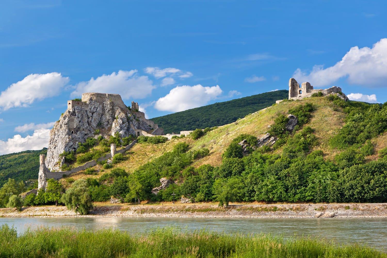 Devin castle on Danube river in Slovakia