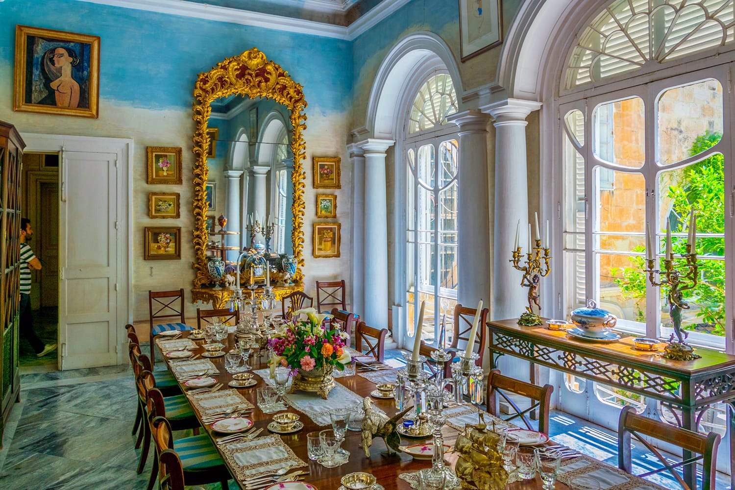 Dinning room in the Casa Rocca Piccola in Valletta, Malta