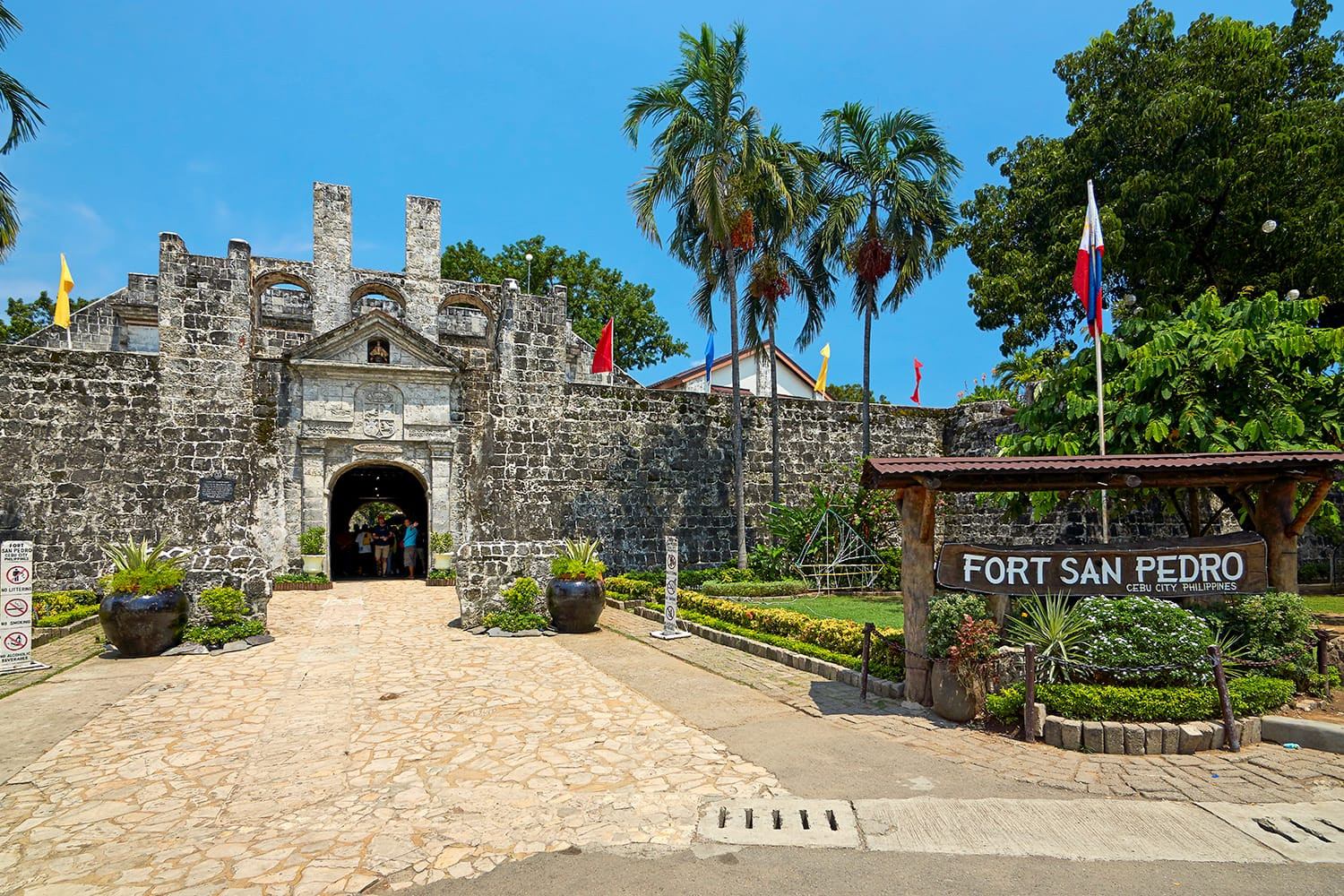 Fort San Pedro, built by the Spanish colonists, is a popular landmark of Cebu city, Philippines