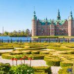 Park and Palace Frederiksborg Slot, Hillerod, Denmark