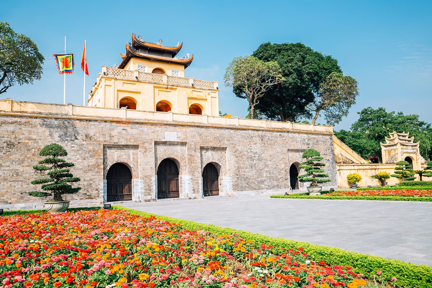 Thang Long Imperial City in Hanoi, Vietnam