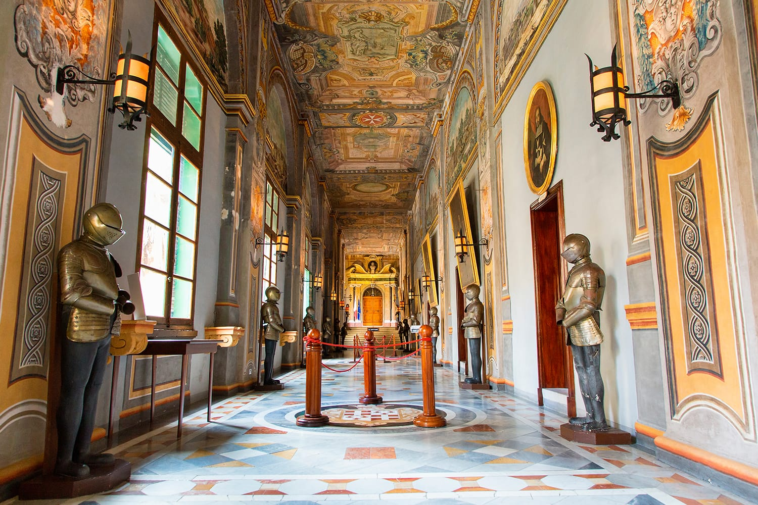 Interior of the Grandmaster's Palace in Valletta, Malta