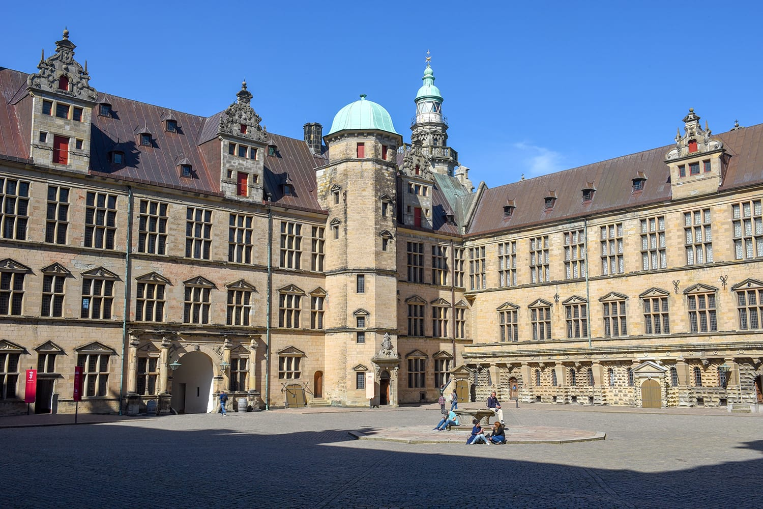 Kronborg castle at Helsingor on Denmark