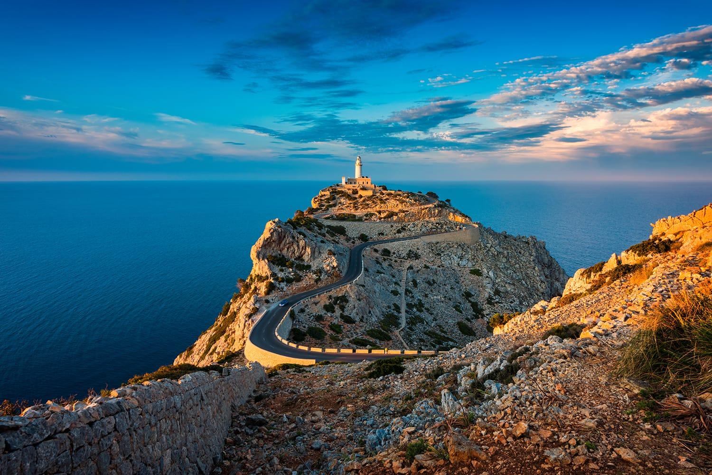 Lighthouse of Cap de Formentor in Mallorca, Spain