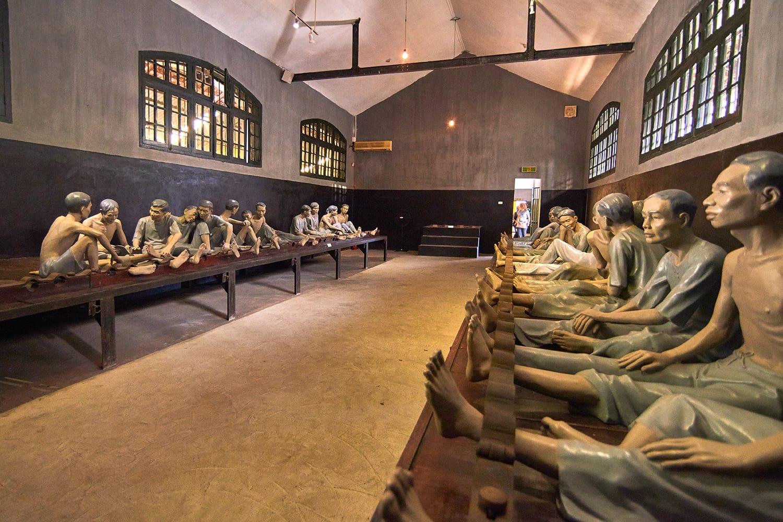 The Maison Centrale Hoa Lo Prison in Hanoi, Vietnam