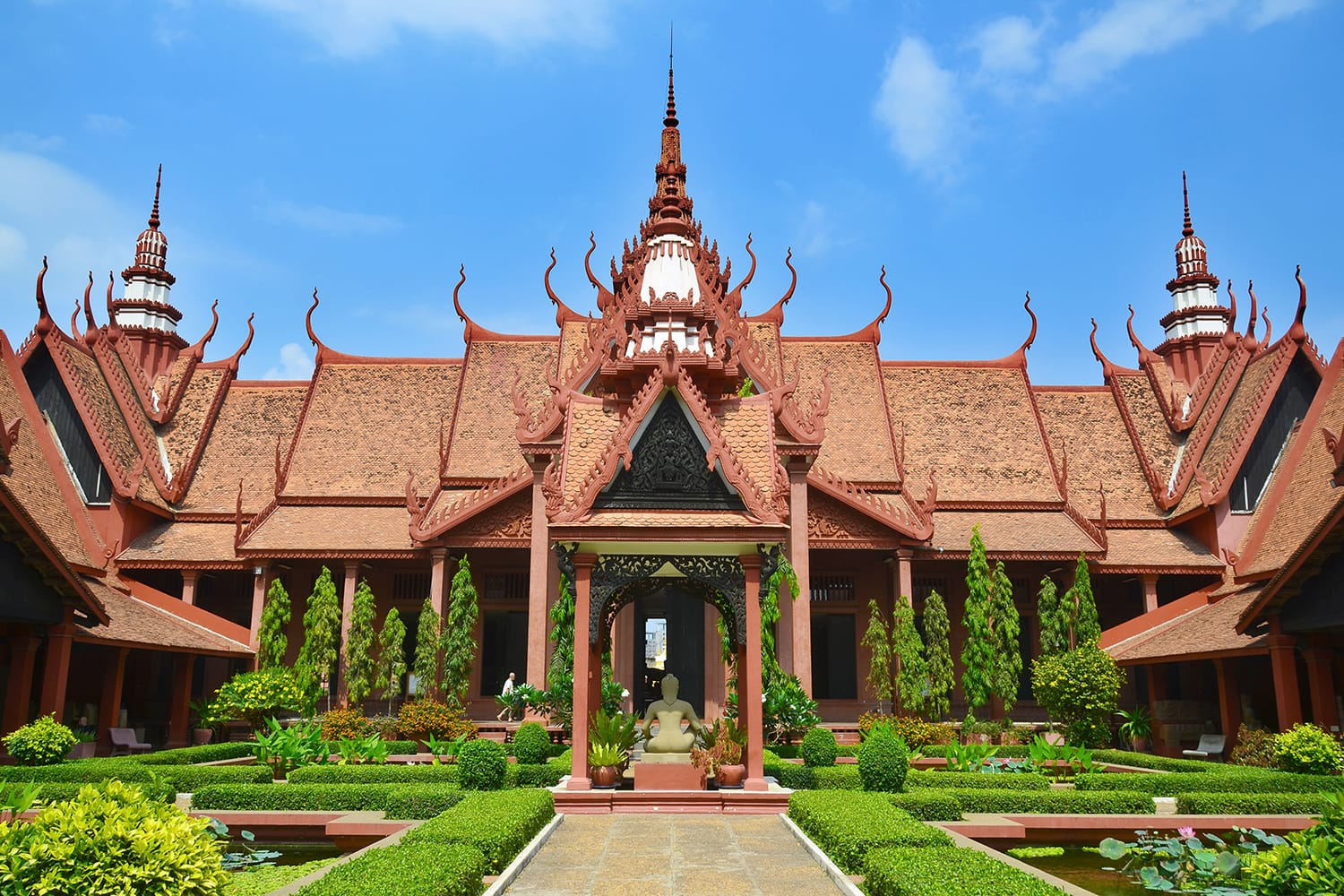 The National Museum of Cambodia (Sala Rachana) in Phnom Penh is Cambodia's largest museum of cultural history and is the country's leading historical and archaeological museum.