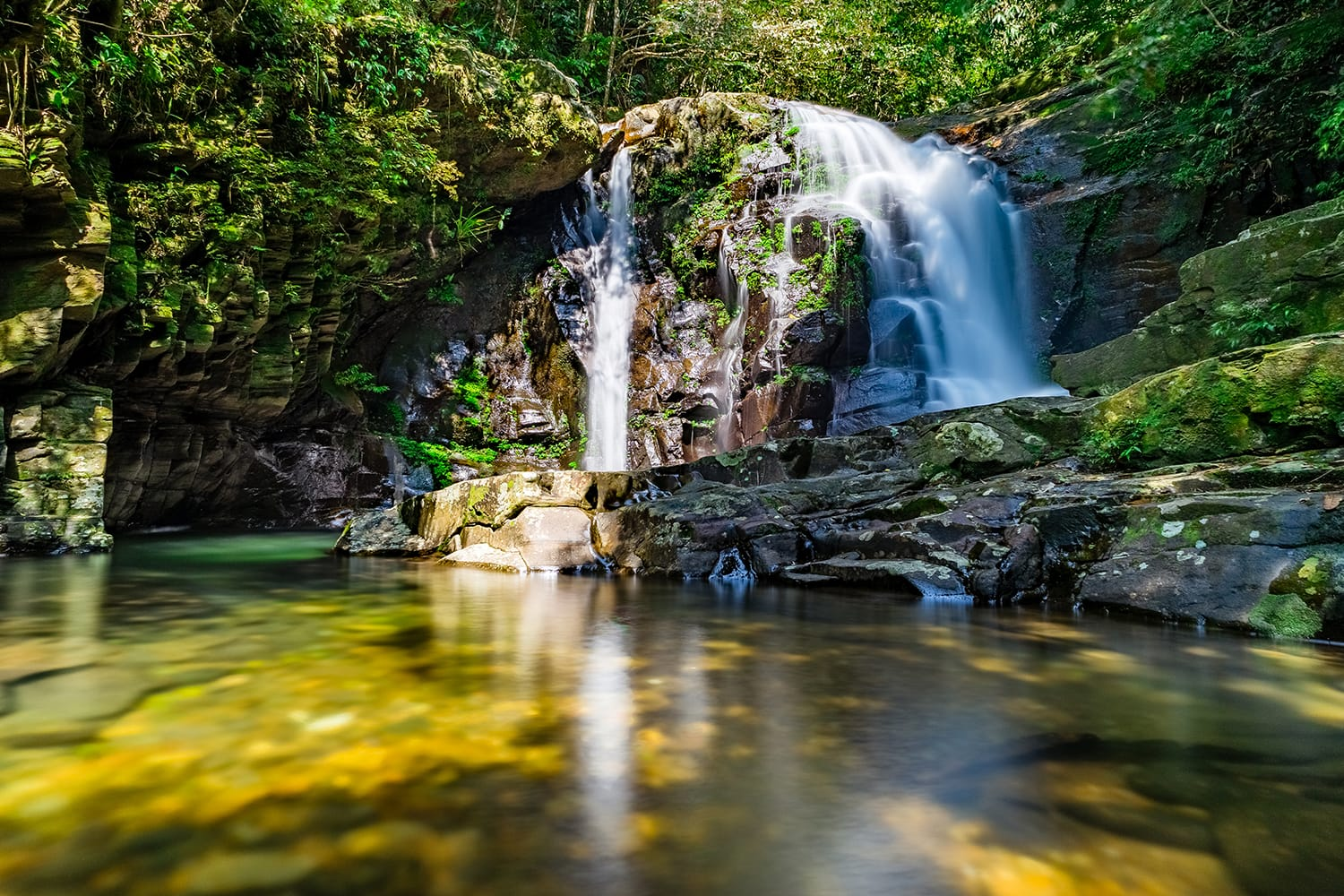 Ngu Ho Waterfall in Bach Ma National Park, Vietnam