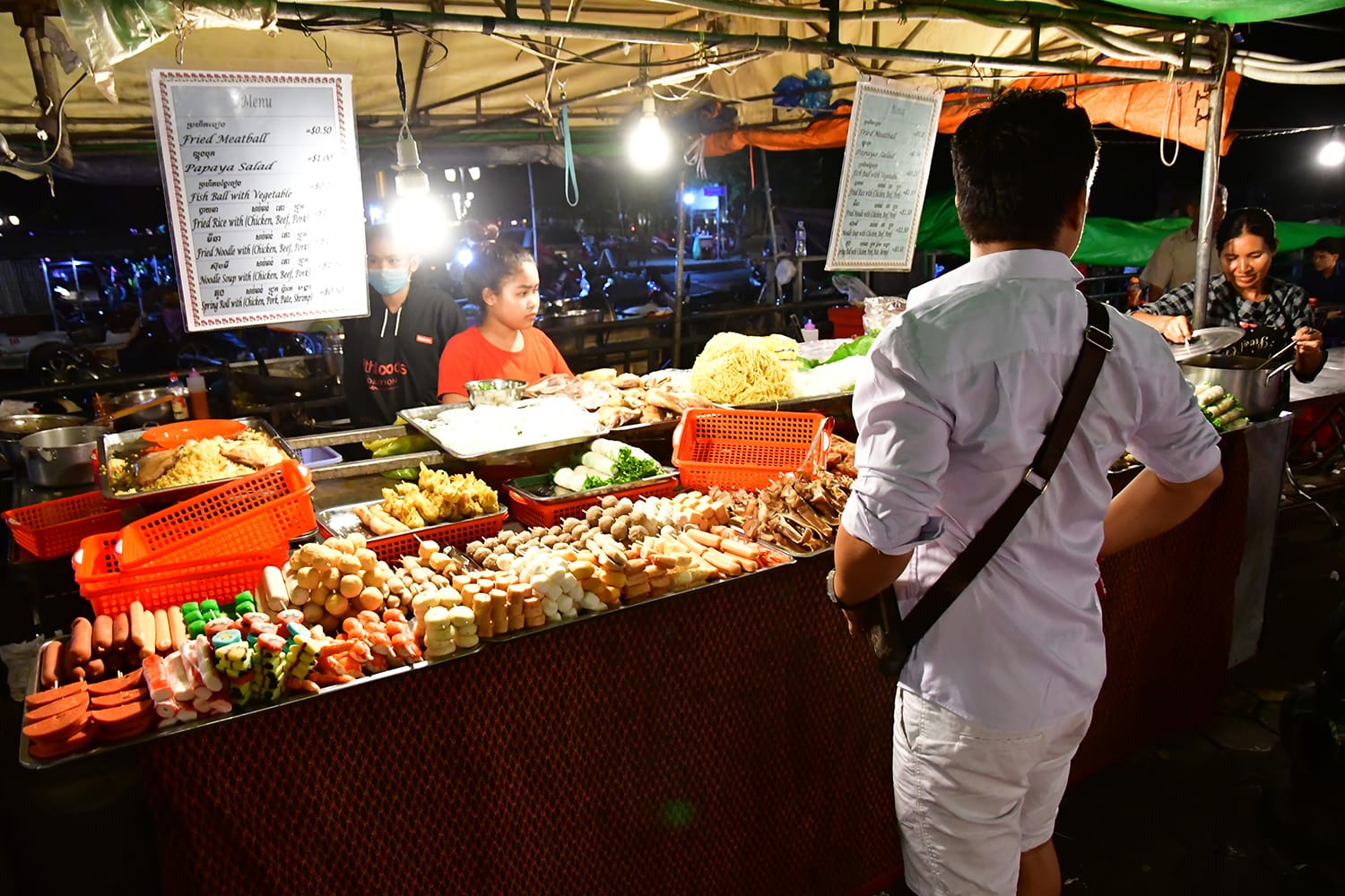 Night market in Phnom Penh, Cambodia
