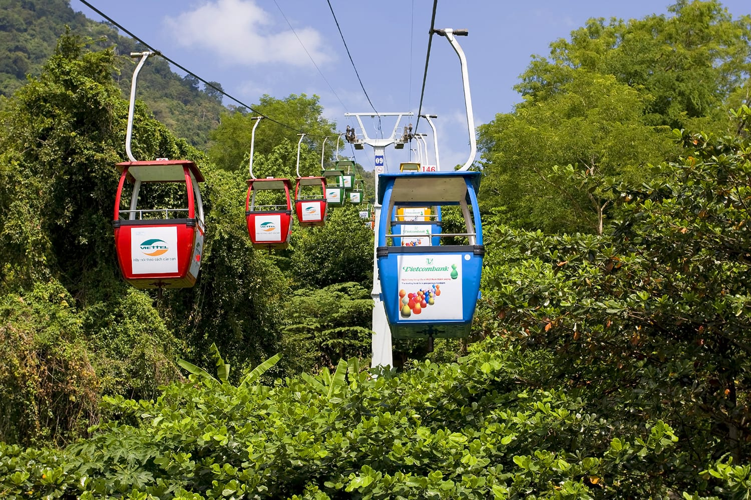 Cable car to Black Virgin Mountain in Vietnam