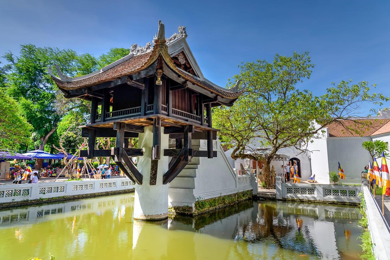 The One Pillar Pagoda in Hanoi, Vietnam