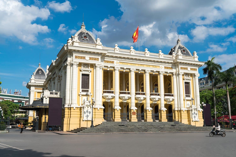 French built Opera House in Hanoi, Vietnam