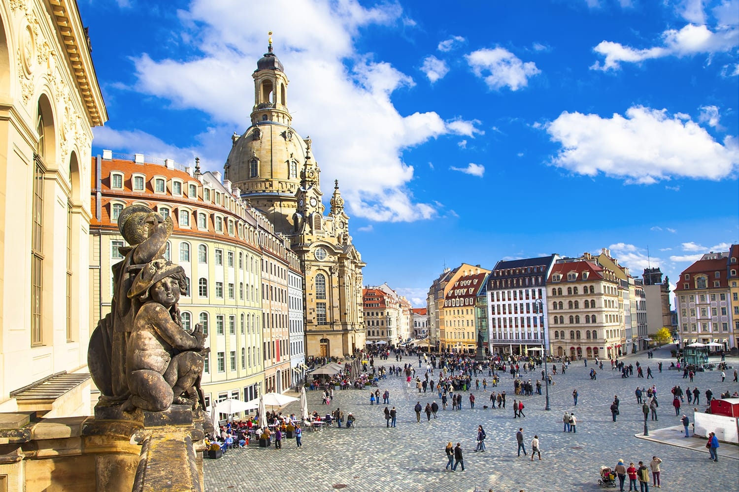 Neumarkt square in Dresden, Germany