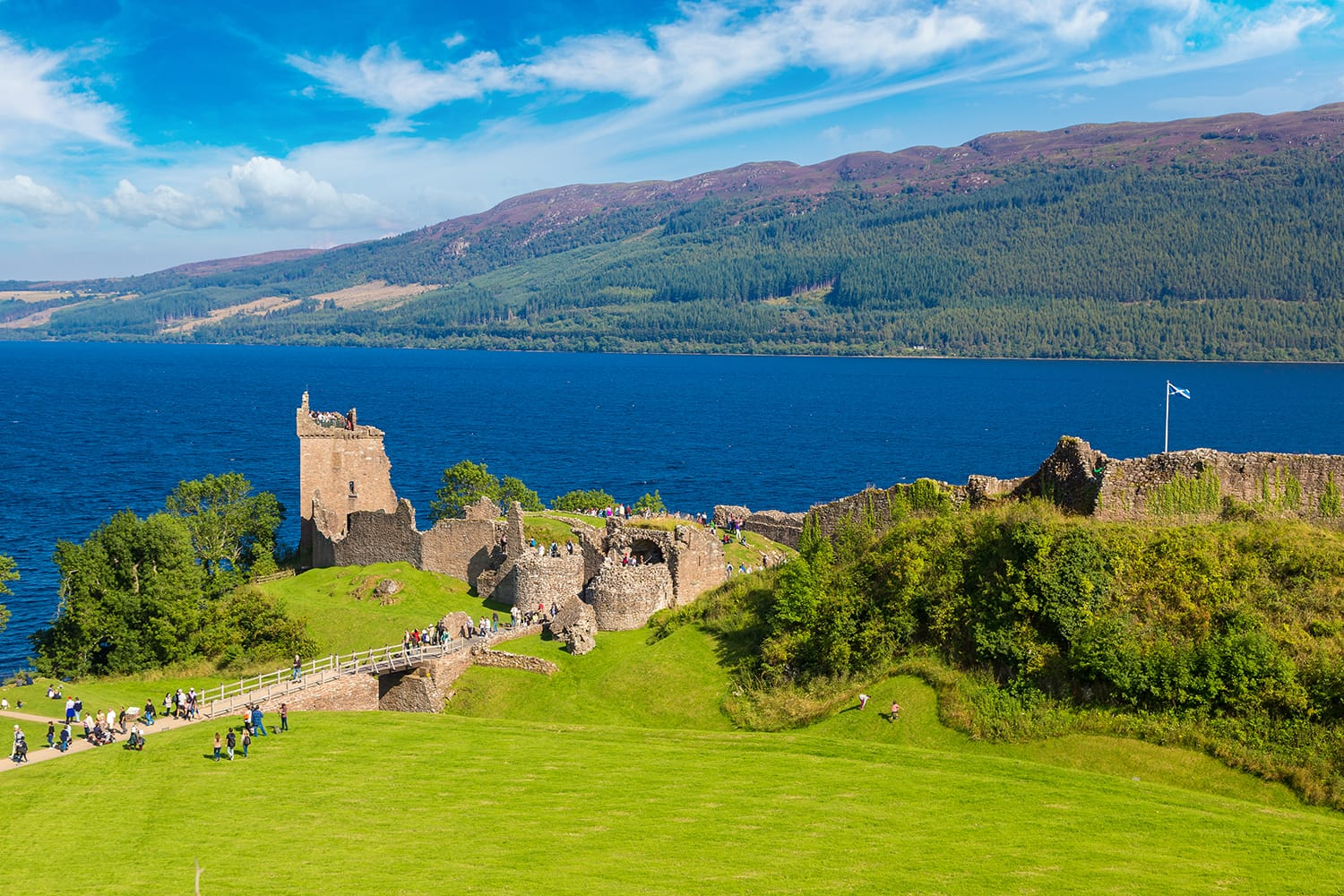Urquhart castle at Loch Ness in Scotland, UK