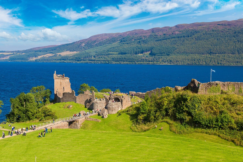 Urquhart castle at Loch Ness in Scotland, UK