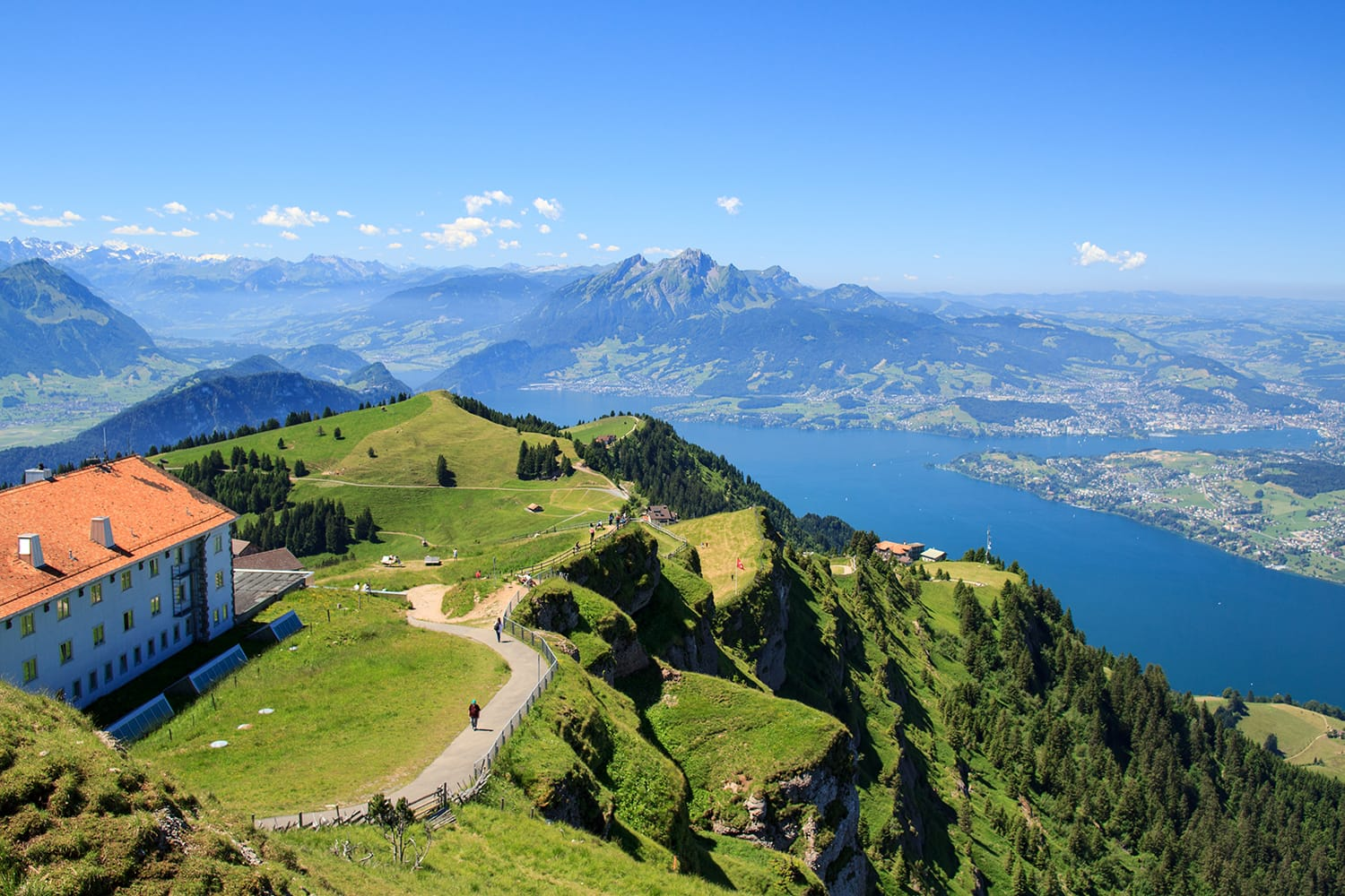 View from the Mount Rigi, Lucerne, Switzerland