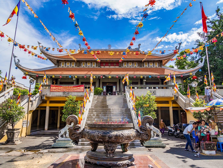 Vinh Nghiem Pagoda in Ho Chi Minh City, Vietnam