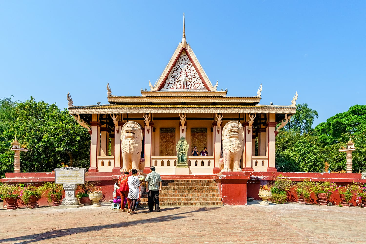 Beautiful view of Wat Phnom in Phnom Penh, Cambodia