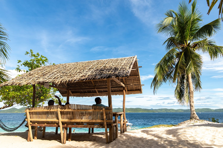 Beautiful view at Black Island , Coron , Palawan , Philippines