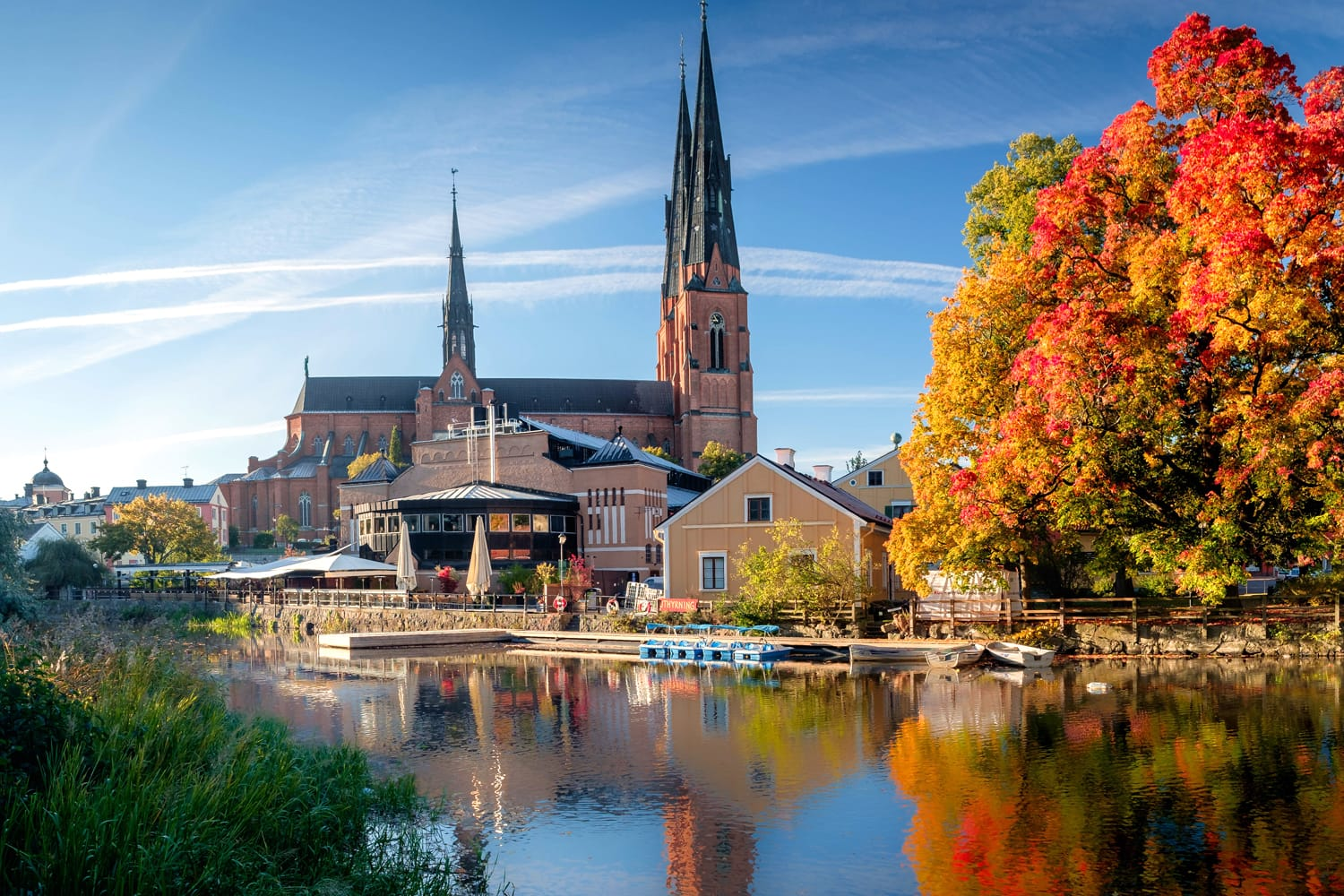 The cathedral of Uppsala in Sweden