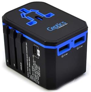 Ceptics World Travel Adapter with USB