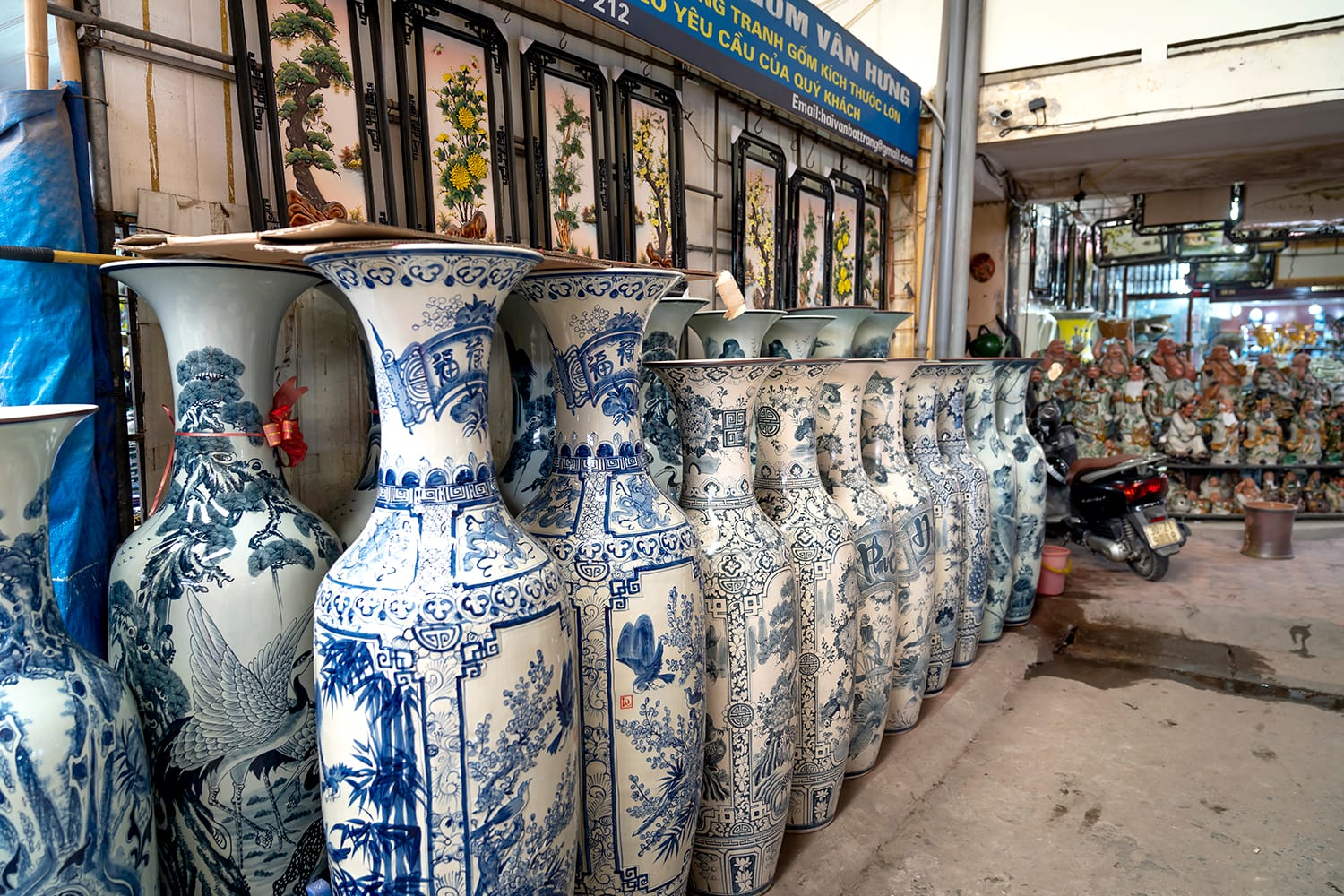Traditional ceramic market in Bat Trang commune, Gia Lam district, Hanoi, Vietnam