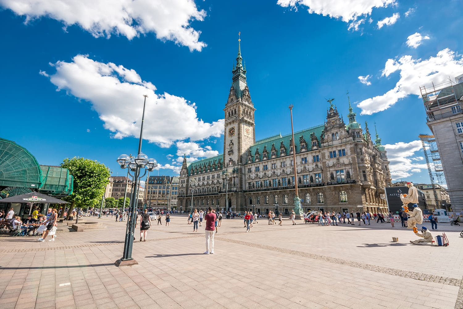 Hamburg City Hall is the seat of local government of the Free and Hanseatic City of Hamburg, Germany