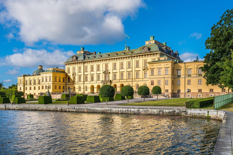 View over Drottningholm palace in Stockholm, Sweden