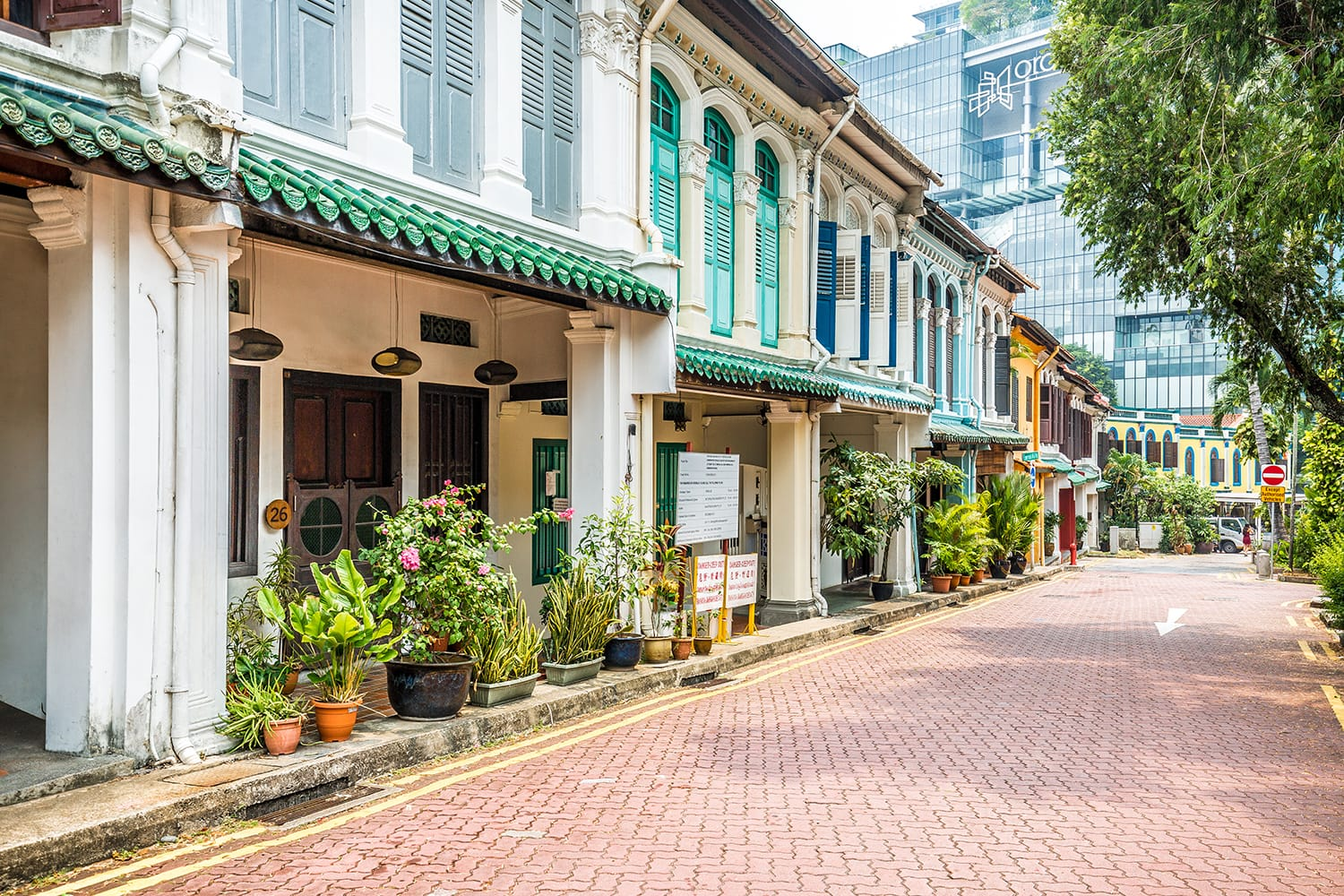 Emerald Hill Road in Singapore
