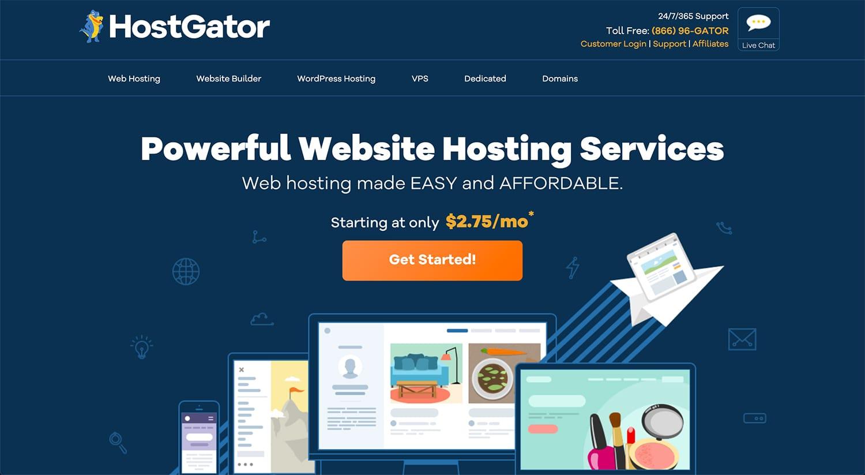 Get started with Hostgator