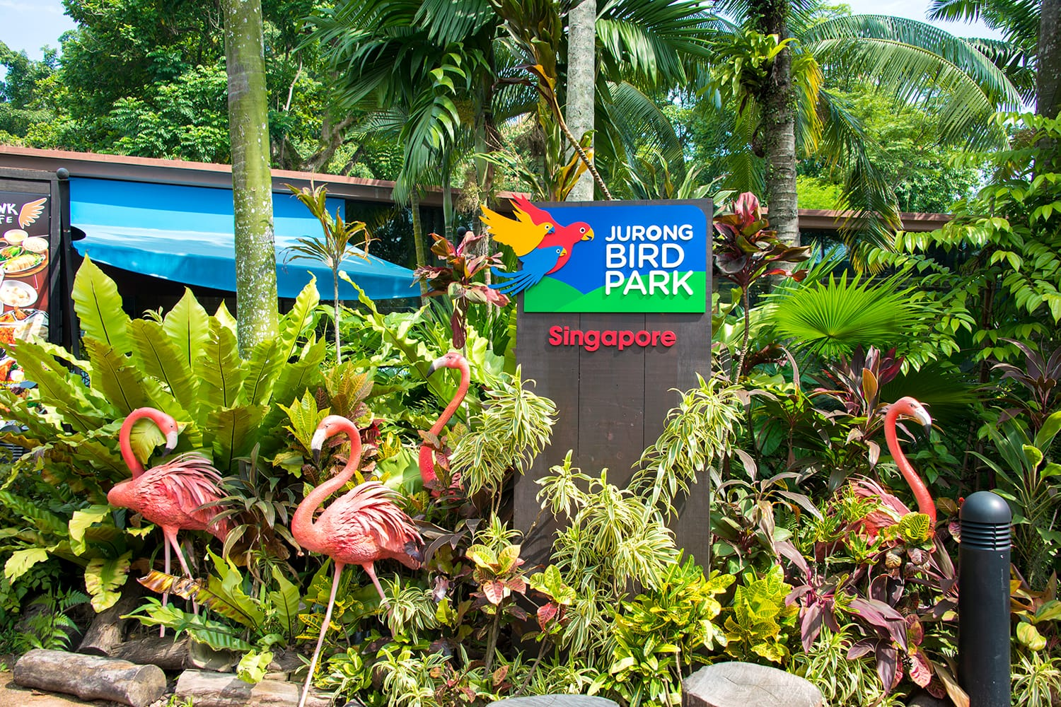 Entrance to Jurong Bird Park in Singapore