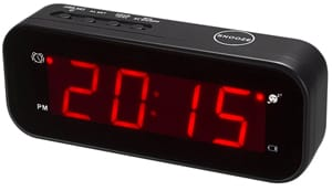 KWANWA Small Digital Alarm Clock for Travel