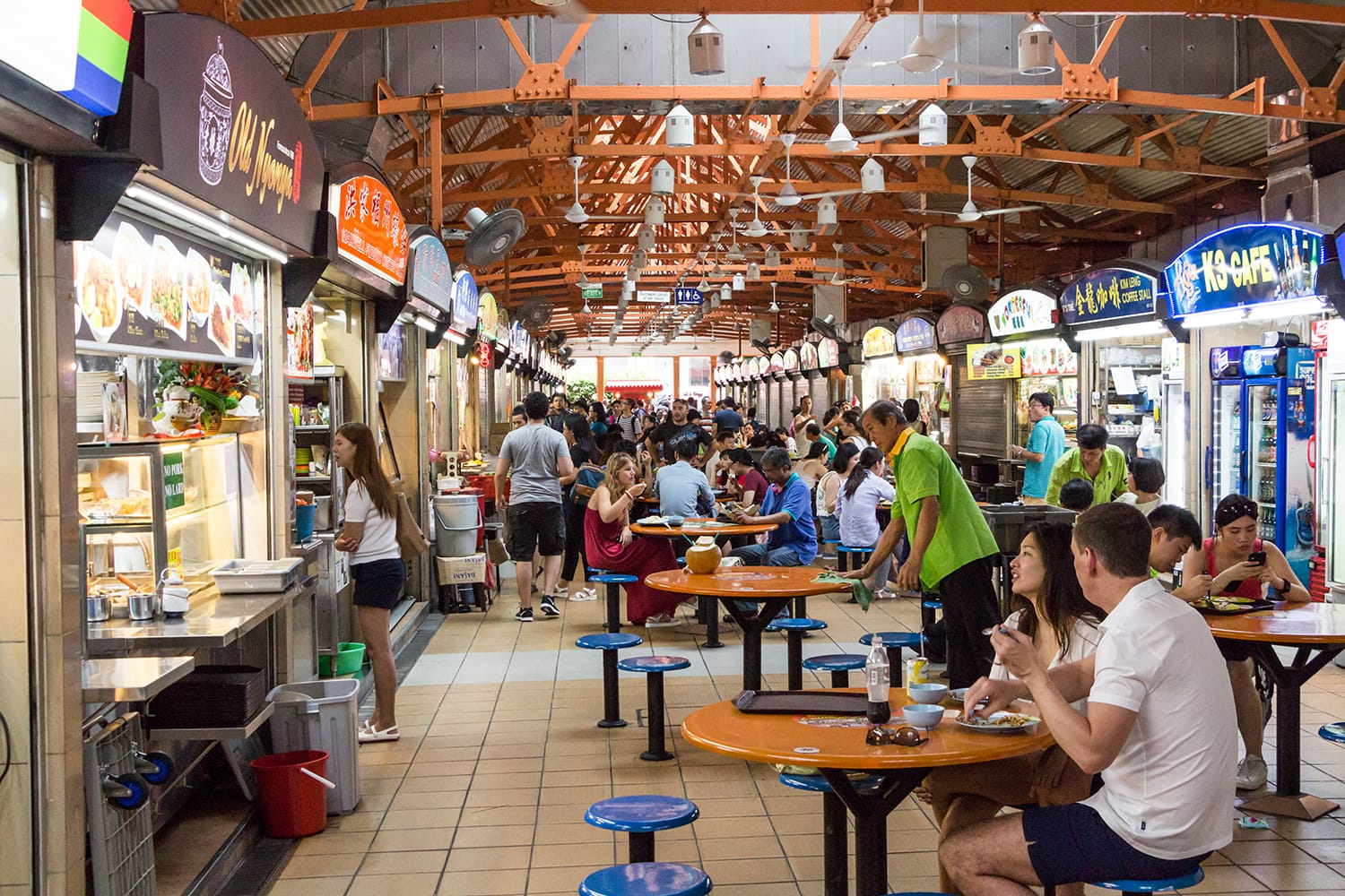 Maxwell Hawker Centre in Singapore