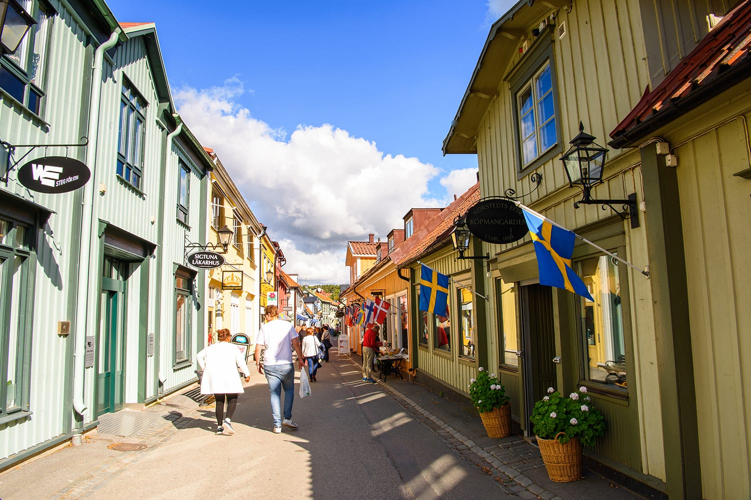 Architecture of Sigtuna, the oldest town in Sweden, having been founded in 980
