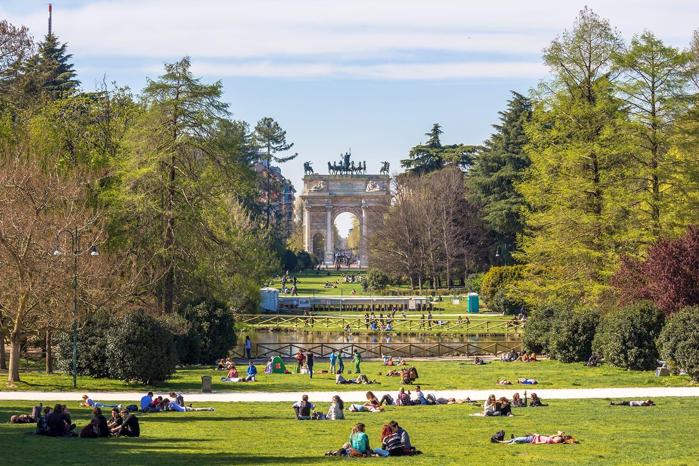 Parco Sempione (Simplon Park), Northwest Milan, Italy