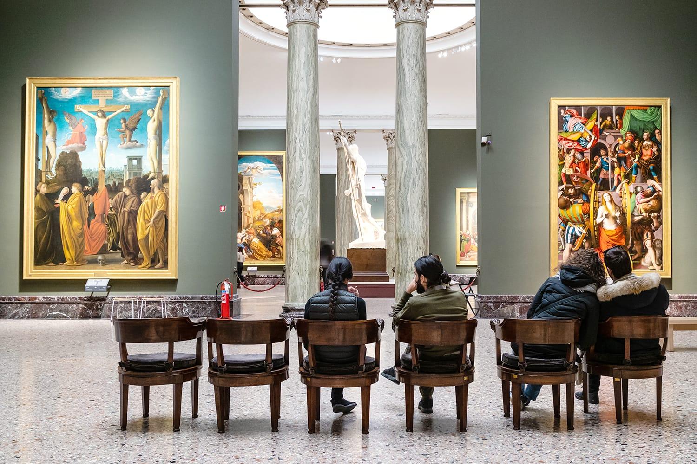 Pinacoteca di Brera (Brera Art Gallery) in Milan, Italy