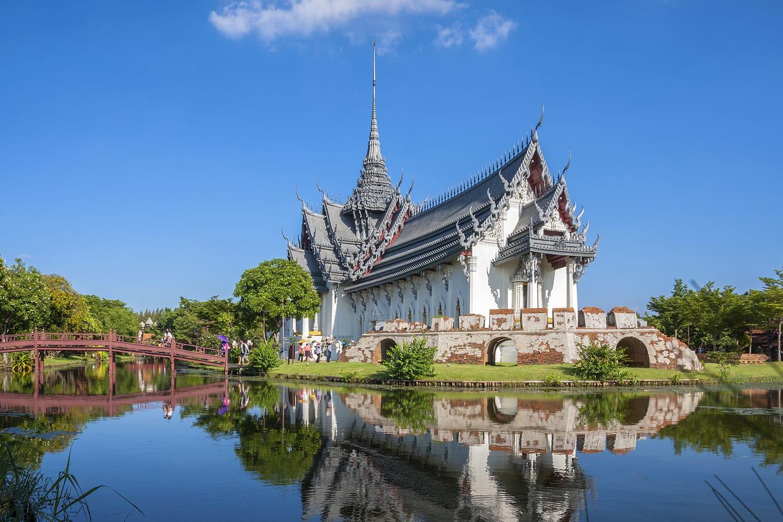 Sanphet Prasat Palace in Samut Prakan, Thailand