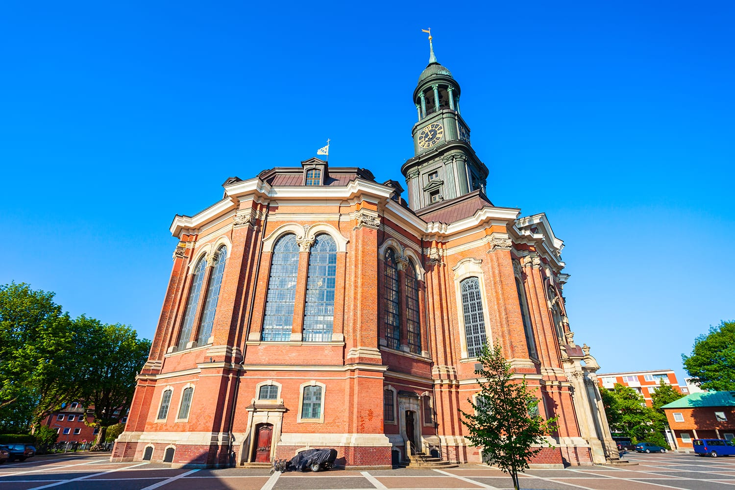 St. Michael Church is the most famous lutheran church in the Hamburg city, Germany