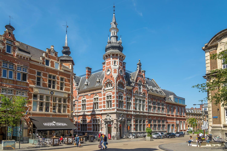 In the streets of Leuven, Belgium