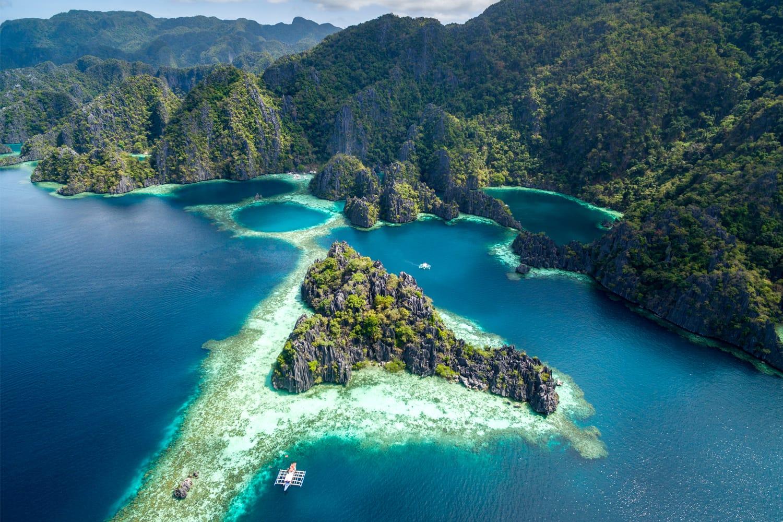 Twin Lagoon in Coron, Palawan, Philippines